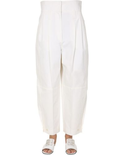 Białe spodnie boho oversize Givenchy