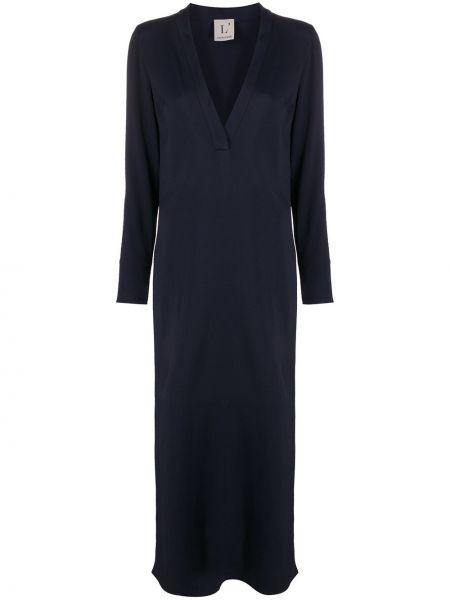 Платье миди с V-образным вырезом приталенное Lautre Chose