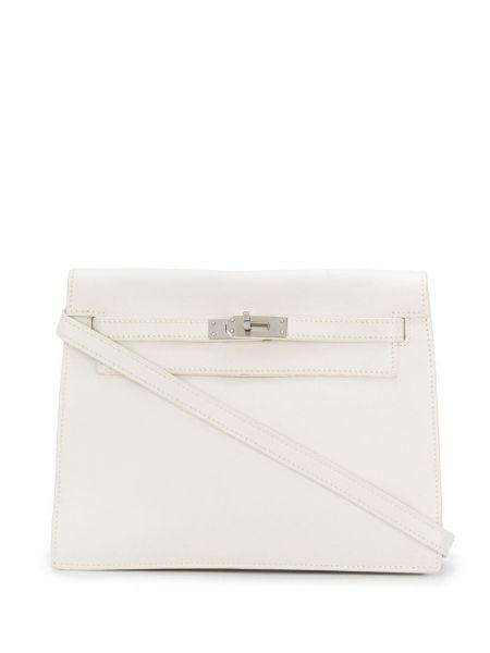 Кожаная сумка с подкладкой винтажная Hermès