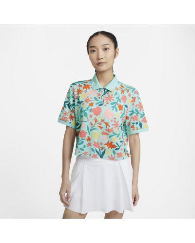T-shirt w kwiaty - pomarańczowa Nike