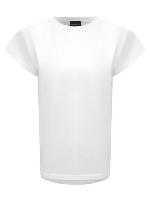 Хлопковая футболка - белая Magda Butrym