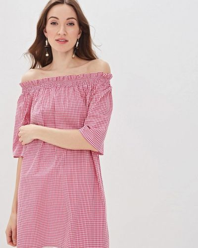 Блузка с открытыми плечами розовая итальянский Massimiliano Bini