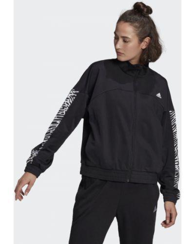 Черная олимпийка эластичная Adidas