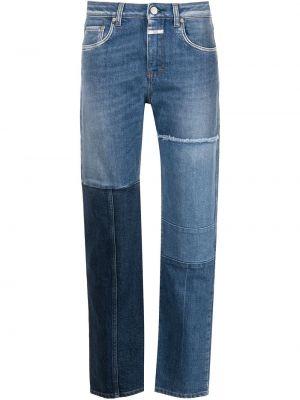 Прямые синие джинсы пэчворк Closed
