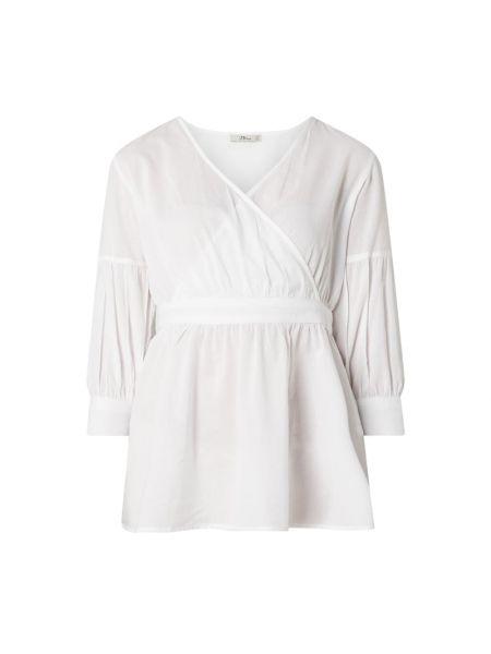 Biała bluzka kopertowa bawełniana Ltb