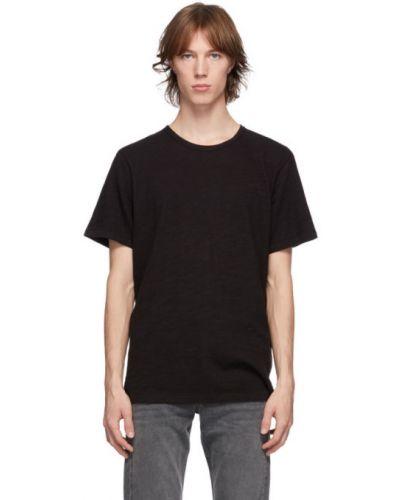 Czarny klasyczny klasyczna koszula z łatami z kołnierzem Rag & Bone