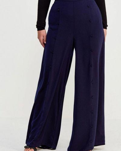 Свободные брюки весенний синие Lost Ink Plus