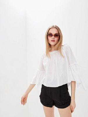 Блузка с открытыми плечами белая весенний Patrizia Pepe