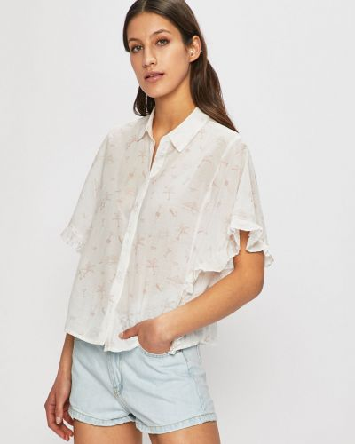 Блузка с коротким рукавом белая Review