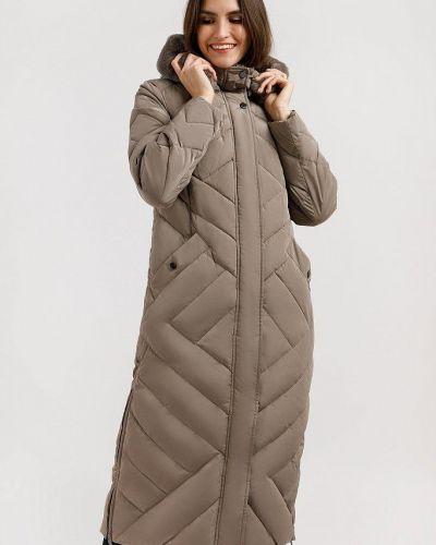 Пальто с мехом - коричневое Finn Flare