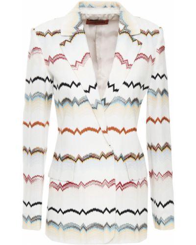 Бежевый пиджак с карманами из вискозы Missoni