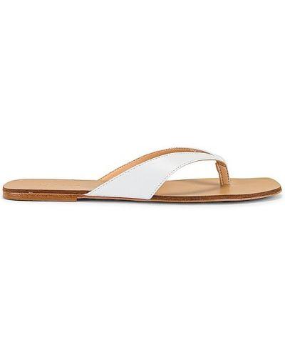 Białe sandały skorzane Raye