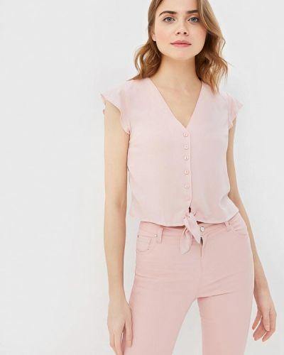 Блузка с коротким рукавом розовая весенний Modis