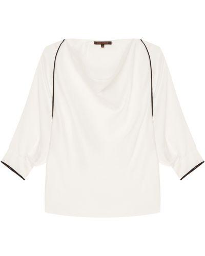 С рукавами белая блузка с вырезом Adolfo Dominguez
