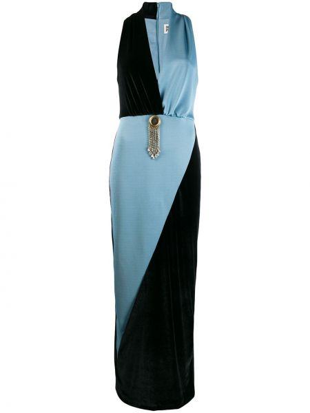 Платье макси с V-образным вырезом приталенное Fausto Puglisi