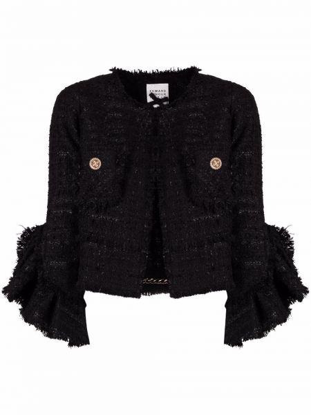 Черный пиджак из полиэстера Edward Achour Paris