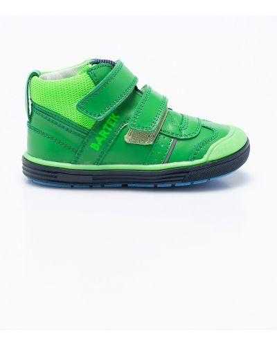Зеленые туфли кожаные Bartek