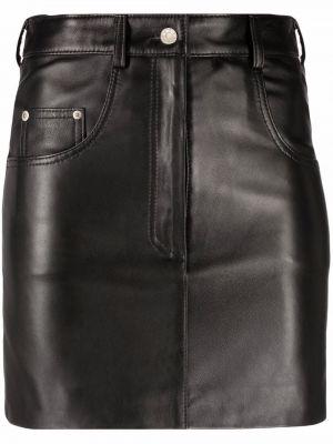 Черная юбка с поясом Manokhi
