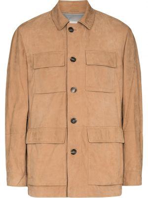Beżowa koszula zapinane na guziki Brunello Cucinelli