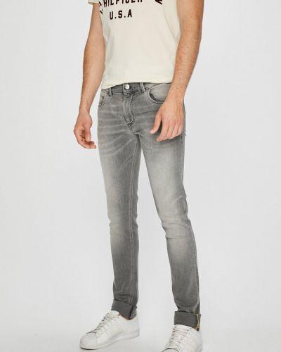 Джинсы-скинни на пуговицах с карманами Trussardi Jeans