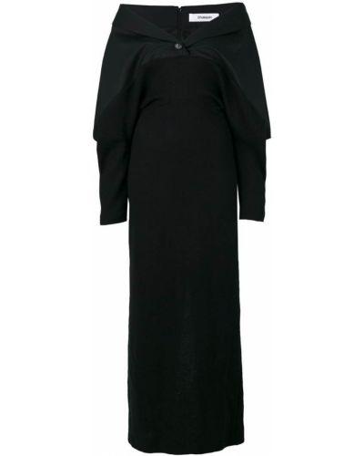 Шерстяное платье макси - черное Chalayan