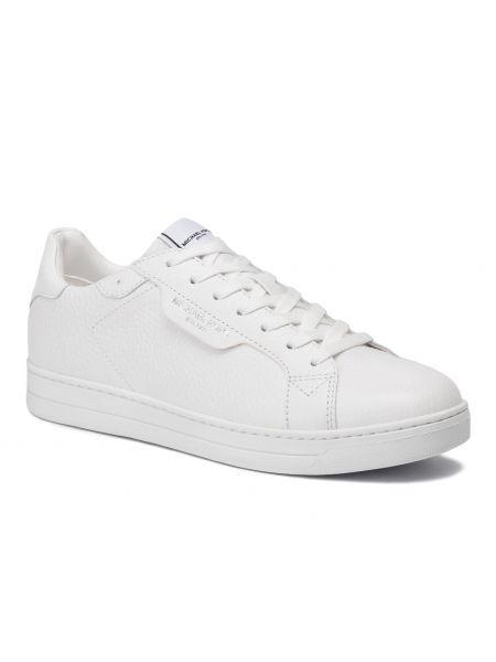 Białe klasyczne sneakersy skorzane Michael Michael Kors