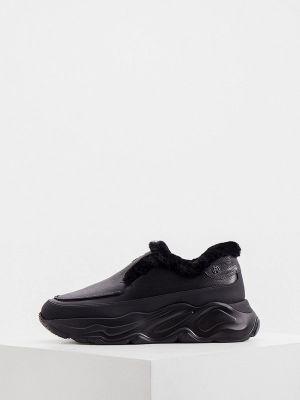 Черные зимние низкие кроссовки Nando Muzi