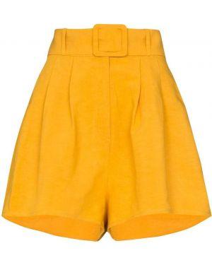 Однобортные желтые шорты Adriana Degreas