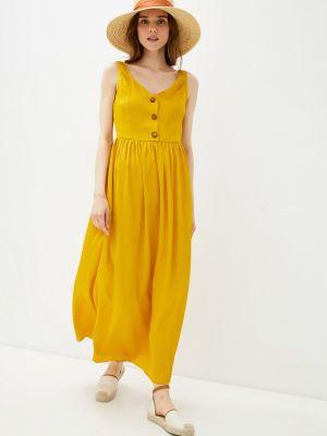 Желтое платье Naf Naf
