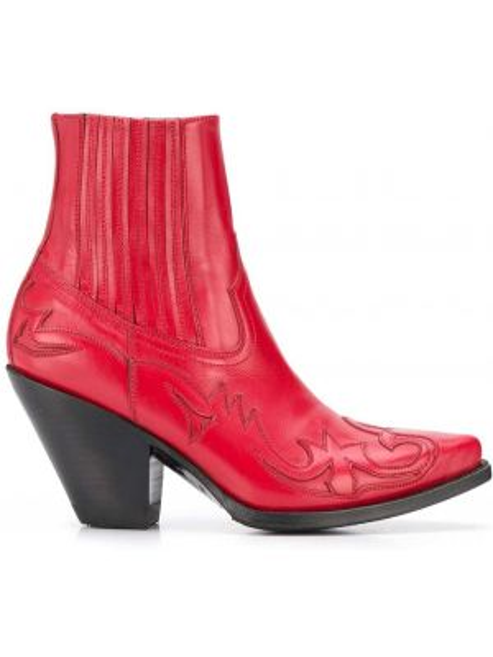 Ботинки на каблуке с вышивкой на низком каблуке Paul Warmer