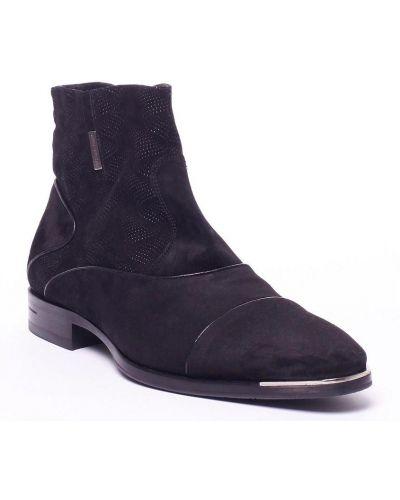 Черные сапоги замшевые Dino Bigioni