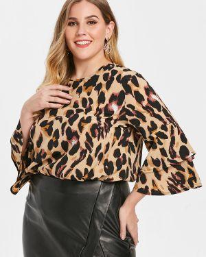Блузка с леопардовым принтом батник Zaful