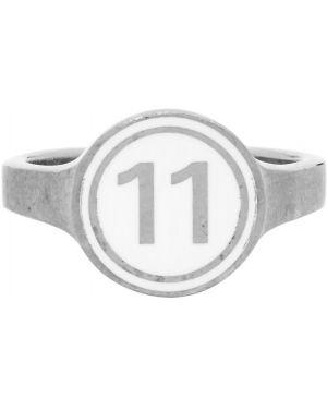 Кольцо серебряный с логотипом Maison Margiela