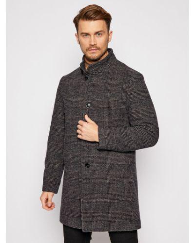 Płaszcz wełniany - szary Pierre Cardin
