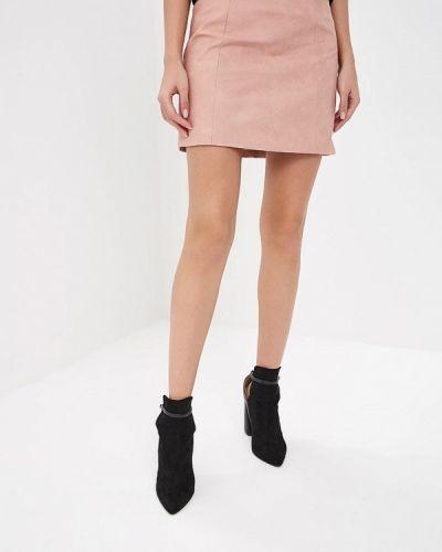Кожаная юбка весенняя Lost Ink.