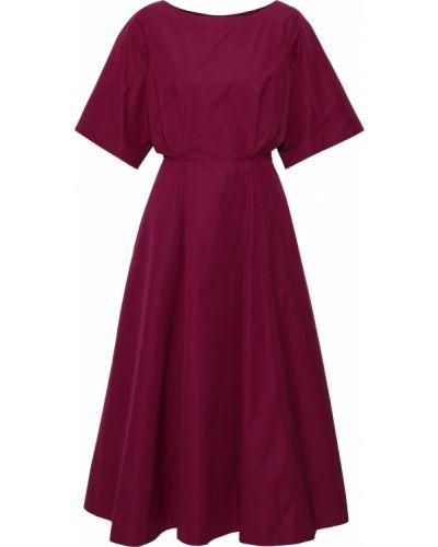 Расклешенное фиолетовое платье миди с вырезом Derek Lam