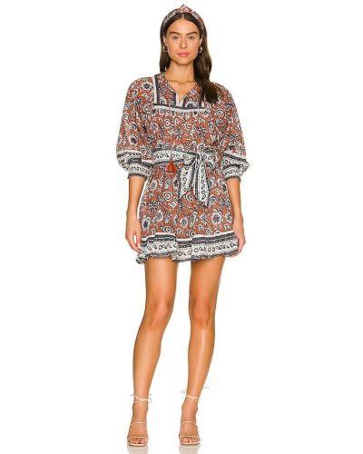 Платье мини с декольте Cleobella