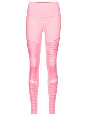 Różowe legginsy Alo Yoga