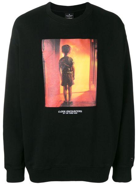 Bawełna z rękawami czarny bluza Marcelo Burlon County Of Milan