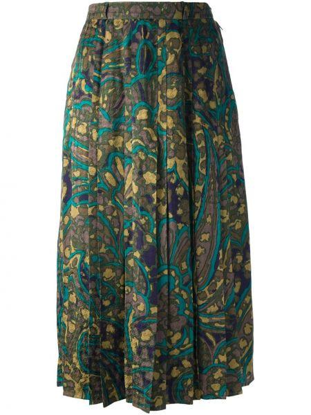 Юбка с цветочным принтом винтажная Jean Louis Scherrer Pre-owned