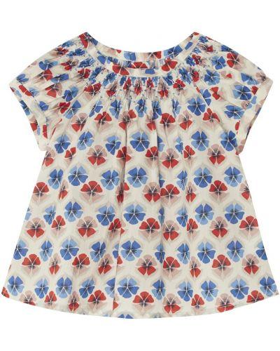 Блуза с принтом с вырезом Bonpoint