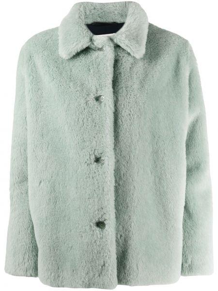 Зеленая куртка из альпаки с воротником Inès & Maréchal