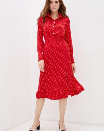 Красное зимнее платье Hey Look