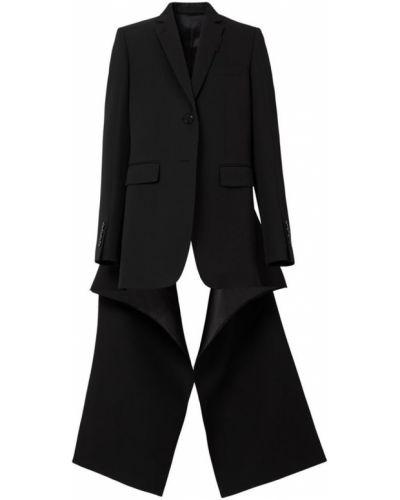 Шерстяной пиджак - черный Burberry