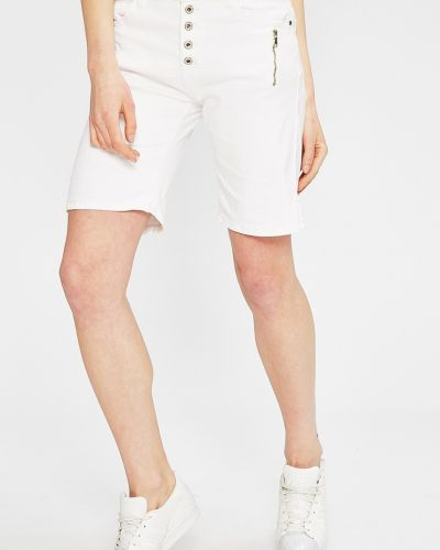 Шорты белые с карманами Answear