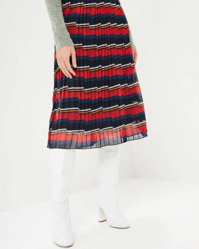 Плиссированная юбка красный Vero Moda