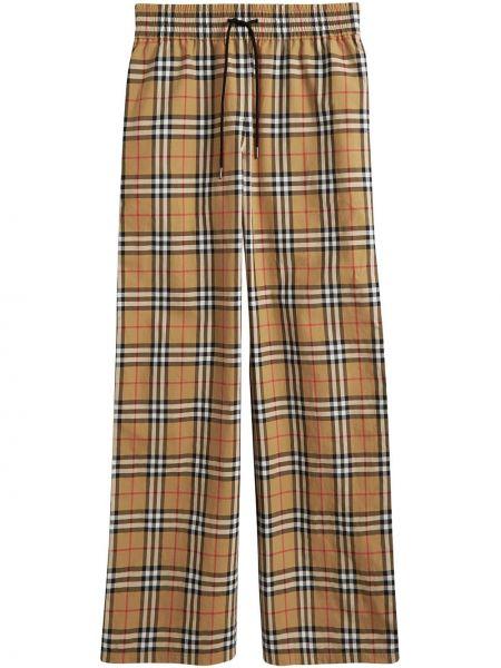 Свободные брюки в клетку с карманами Burberry