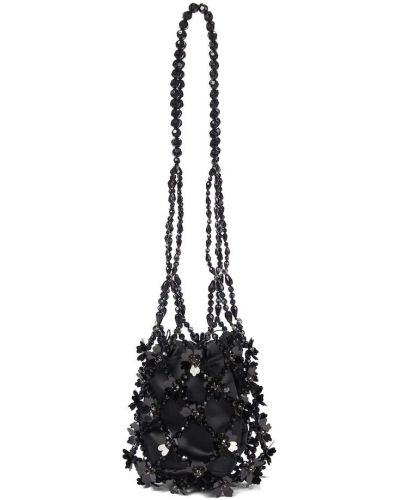 Czarna torebka bawełniana Simone Rocha