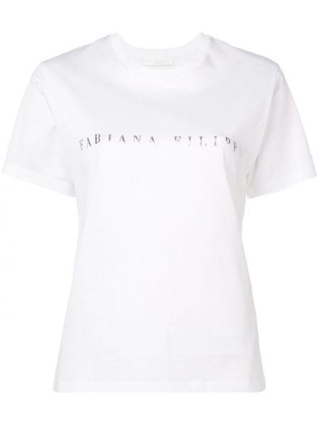 Прямая футбольная белая футболка Fabiana Filippi