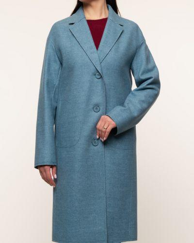 Прямое шерстяное пальто с воротником синар